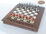 picture of Magnificent Chessmen with Italian Alabaster Chess Board with Storage (2 of 9)