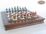 picture of Magnificent Chessmen with Italian Alabaster Chess Board with Storage (5 of 9)