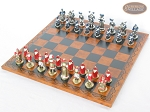 picture of Magnificent Chessmen with Patterned Italian Leatherette Chess Board (2 of 8)