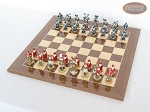 picture of Magnificent Chessmen with Spanish Lacquered Chess Board [Wood] (2 of 8)