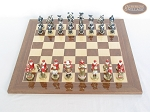 picture of Magnificent Chessmen with Spanish Lacquered Chess Board [Wood] (3 of 8)