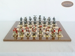 picture of Magnificent Chessmen with Spanish Lacquered Chess Board [Wood] (4 of 8)