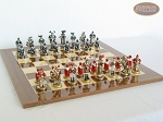 picture of Magnificent Chessmen with Spanish Lacquered Chess Board [Wood] (5 of 8)