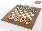 picture of Magnificent Chessmen with Italian Lacquered Chess Board [Wood] (2 of 8)