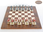 picture of Magnificent Chessmen with Italian Lacquered Chess Board [Wood] (3 of 8)