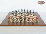 picture of Magnificent Chessmen with Italian Lacquered Chess Board [Wood] (4 of 8)