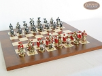 picture of Magnificent Chessmen with Italian Lacquered Chess Board [Wood] (5 of 8)