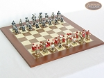 Magnificent Chessmen with Spanish Traditional Chess Board [Large] - Item: 883