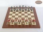 picture of Magnificent Chessmen with Spanish Traditional Chess Board [Large] (3 of 8)