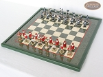 picture of Magnificent Chessmen with Italian Lacquered Board [Green] (2 of 8)