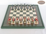 picture of Magnificent Chessmen with Italian Lacquered Board [Green] (3 of 8)