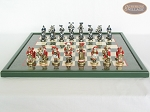 picture of Magnificent Chessmen with Italian Lacquered Board [Green] (4 of 8)