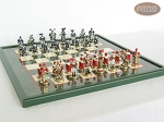 picture of Magnificent Chessmen with Italian Lacquered Board [Green] (5 of 8)