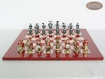 picture of Magnificent Chessmen with Italian Lacquered Chess Board [Red] (4 of 8)
