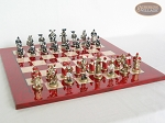 picture of Magnificent Chessmen with Italian Lacquered Chess Board [Red] (5 of 8)