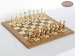 Modern Italian Staunton Chessmen with Spanish Mosaic Chess Board - Item: 896