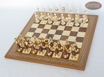 picture of Modern Italian Staunton Chessmen with Spanish Mosaic Chess Board (2 of 7)