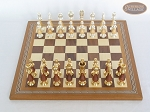 picture of Modern Italian Staunton Chessmen with Spanish Mosaic Chess Board (3 of 7)