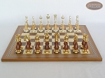 picture of Modern Italian Staunton Chessmen with Spanish Mosaic Chess Board (4 of 7)