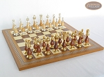 picture of Modern Italian Staunton Chessmen with Spanish Mosaic Chess Board (5 of 7)