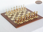 Modern Italian Staunton Chessmen with Spanish Traditional Chess Board [Small] - Item: 899