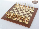 picture of Modern Italian Staunton Chessmen with Spanish Traditional Chess Board [Small] (2 of 7)