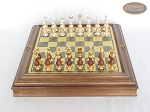 picture of Modern Italian Staunton Chessmen with Italian Brass Board with Storage (2 of 7)
