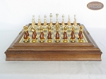 picture of Modern Italian Staunton Chessmen with Italian Brass Board with Storage (3 of 7)