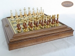 picture of Modern Italian Staunton Chessmen with Italian Brass Board with Storage (4 of 7)
