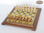 picture of Modern Italian Staunton Chessmen with Italian Brass Chess Board [Raised] (2 of 6)