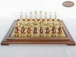 picture of Modern Italian Staunton Chessmen with Italian Brass Chess Board [Raised] (3 of 6)