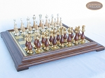 picture of Modern Italian Staunton Chessmen with Italian Brass Chess Board [Raised] (4 of 6)