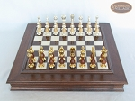 picture of Modern Italian Staunton Chessmen with Italian Alabaster Chess Board with Storage (3 of 8)