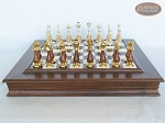 picture of Modern Italian Staunton Chessmen with Italian Alabaster Chess Board with Storage (4 of 8)