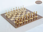 Modern Italian Staunton Chessmen with Spanish Lacquered Chess Board [Wood] - Item: 895
