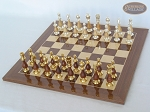 picture of Modern Italian Staunton Chessmen with Spanish Lacquered Chess Board [Wood] (2 of 6)