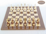 picture of Modern Italian Staunton Chessmen with Spanish Lacquered Chess Board [Wood] (3 of 6)