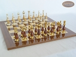 picture of Modern Italian Staunton Chessmen with Spanish Lacquered Chess Board [Wood] (4 of 6)