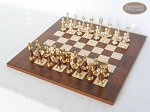 picture of Modern Italian Staunton Chessmen with Italian Lacquered Chess Board [Wood] (2 of 6)