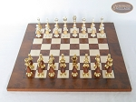 picture of Modern Italian Staunton Chessmen with Italian Lacquered Chess Board [Wood] (3 of 6)