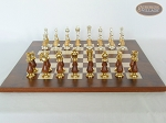 picture of Modern Italian Staunton Chessmen with Italian Lacquered Chess Board [Wood] (4 of 6)