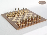 Champion Brass Staunton Chessmen with Spanish Lacquered Board [Wood] - Item: 905