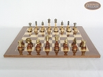 picture of Champion Brass Staunton Chessmen with Spanish Lacquered Board [Wood] (2 of 5)