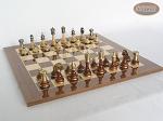 picture of Champion Brass Staunton Chessmen with Spanish Lacquered Board [Wood] (3 of 5)