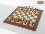 picture of Champion Brass Staunton Chessmen with Spanish Traditional Chess Board [Large] (2 of 7)