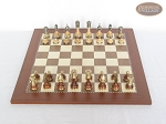 picture of Champion Brass Staunton Chessmen with Spanish Traditional Chess Board [Large] (3 of 7)