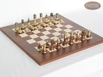 Champion Brass Staunton Chessmen with Italian Lacquered Chess Board [Wood] - Item: 909
