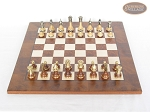 picture of Champion Brass Staunton Chessmen with Italian Lacquered Chess Board [Wood] (2 of 6)