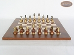 picture of Champion Brass Staunton Chessmen with Italian Lacquered Chess Board [Wood] (3 of 6)