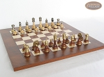 picture of Champion Brass Staunton Chessmen with Italian Lacquered Chess Board [Wood] (4 of 6)